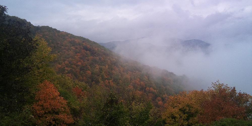Vitosha vuori Sofia syksyllä